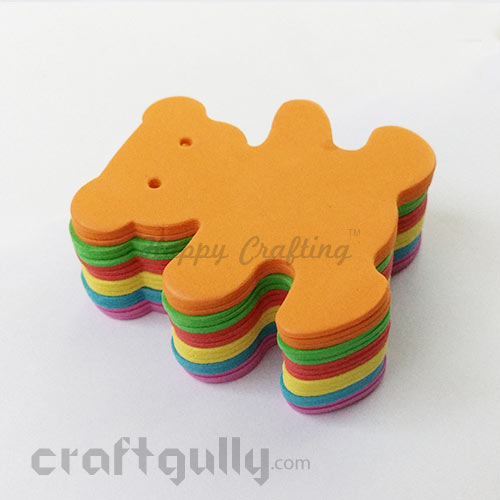 Foam Shapes 85mm - Bear - Assorted - Pack of 18