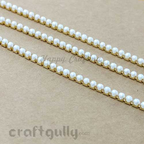 Faux Pearl String 2mm - Ivory - 18 Inches