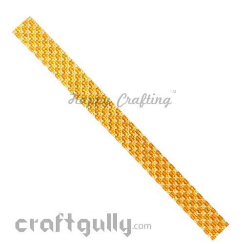 Rhinestone Stick-Ons #5 - 20mm Strip - Golden & Orange - Pack of 1