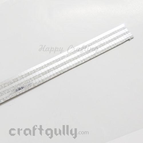 Metallic Stick-Ons #10 - 18mm Strip - Silver Mirror & Matte - Pack of 1
