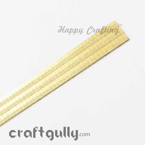Metallic Stick-Ons #11 - 18mm Strip - Golden Mirror & Matte - Pack of 1