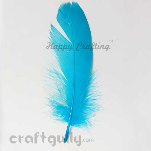 Feathers #12 - 140mm - Sky Blue - Pack of 1