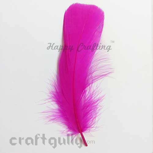 Feathers #12 - 130mm - Dark Pink - Pack of 1
