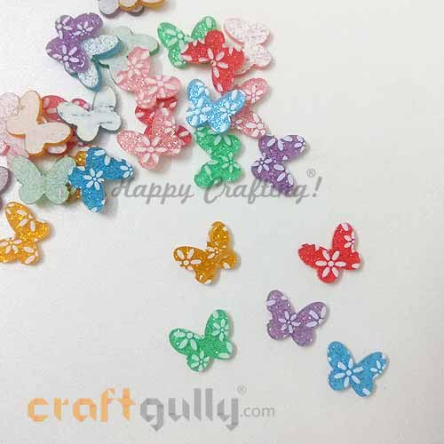 Flatback Acrylic 9mm Butterfly - Design #4 - Random Assorted - Pack of 30