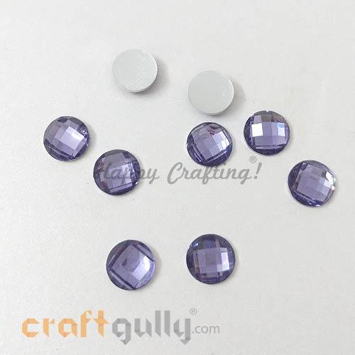 Rhinestones 8mm Round - Lavender - Pack of 30
