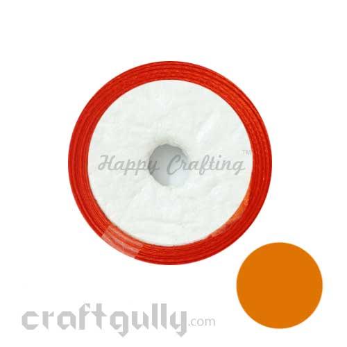 Satin Ribbons 1/4 inch - Dark Orange - 8 meters