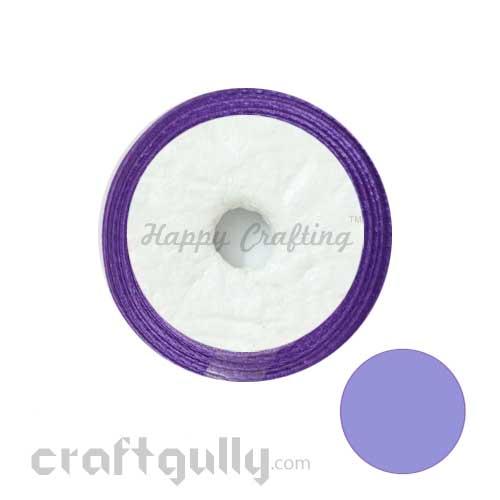 Satin Ribbons 1/4 inch - Violet - 8 meters