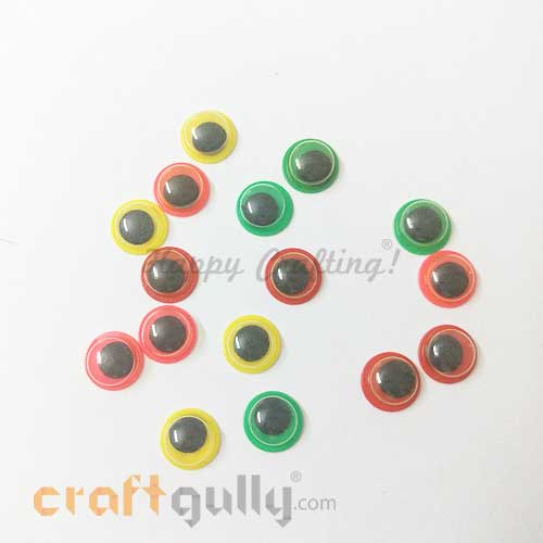 Googly Eyes 8mm - Colored Assorted #2 - Pack of 16
