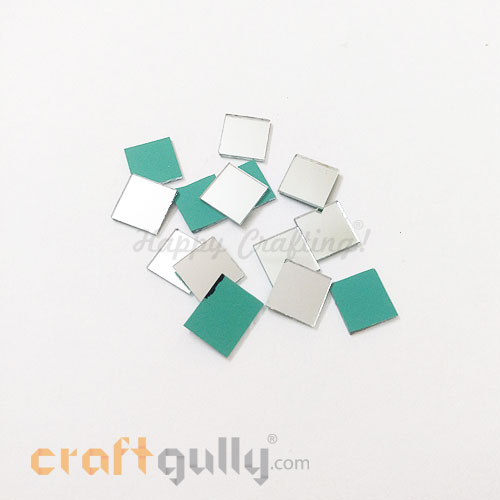 Cut Mirrors 10mm - Square - 10gms