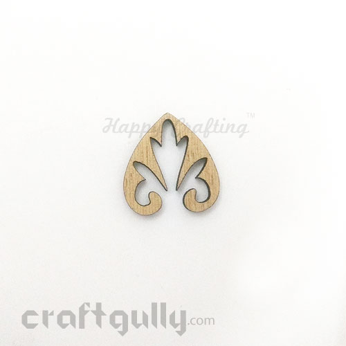 Laser Cut MDF Elements #12 - Leaf #2 - Pack of 1