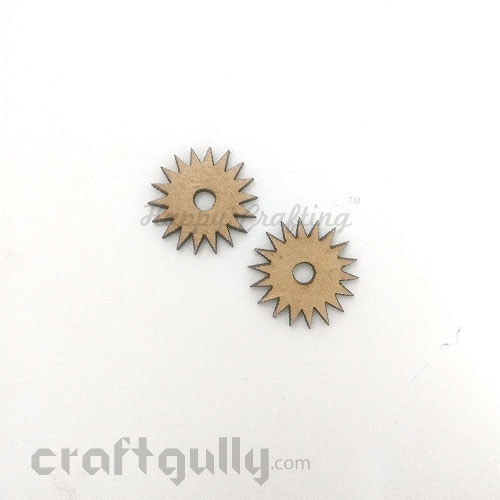 Laser Cut MDF Elements #13 - Gears - Pack of 2