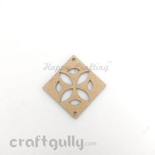 Laser Cut MDF Elements #14 - Rhombus - Pack of 1