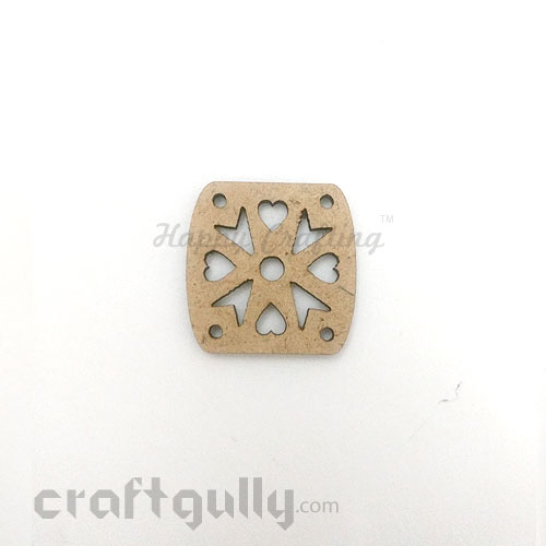 Laser Cut MDF Elements #15 - Rounded Square - Pack of 1