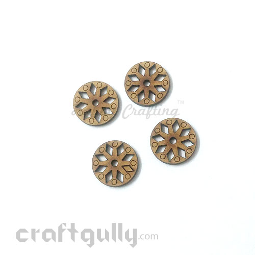 Laser Cut MDF Elements #25 - Round - Pack of 4