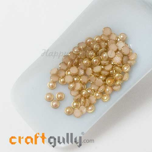 Ceramic With Rim 5.5mm Round - Rose Gold - 10gms