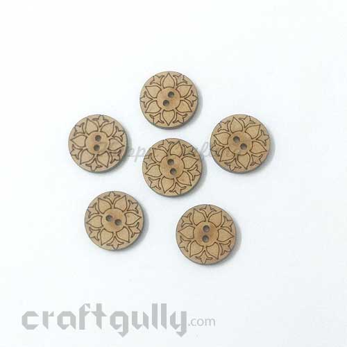 Buttons MDF #2 - 18mm Round - 6 Buttons