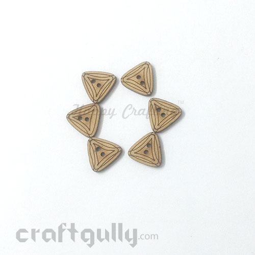 Buttons MDF #11 - 14mm Triangle - 6 Buttons