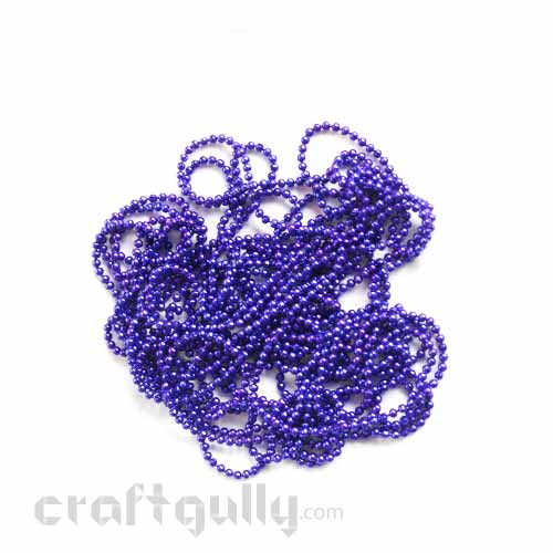 Ball Chain 2mm - Inky Purple - 9 Feet