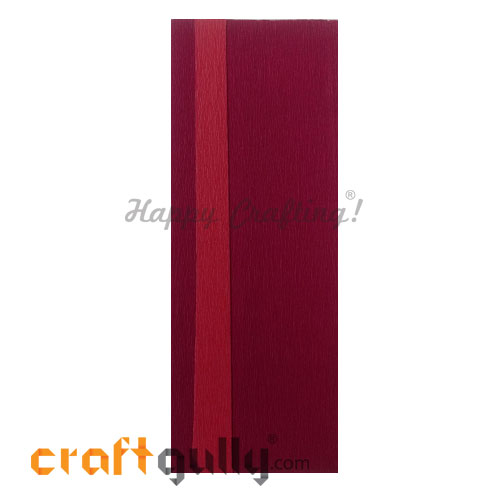 Duplex Paper 21 inches - Dark Red & Red - Pack of 1