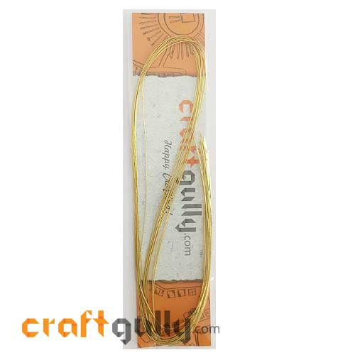 Foil-Coated Wires 21g - Golden - Pack of 10