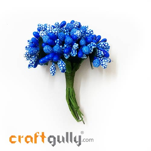 Pollen - Stamen Cluster - Royal Blue - Pack of 10
