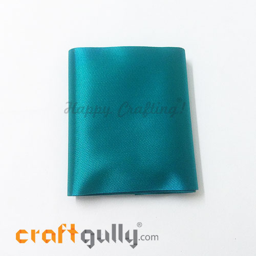 Satin Ribbons For Flower Making 78mm - Teal - 36 inches