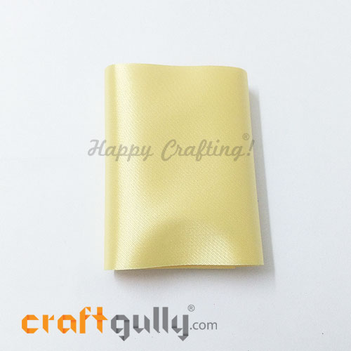 Satin Ribbons For Flower Making 78mm - Light Yellow - 36 inches