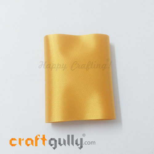 Satin Ribbons For Flower Making 76mm - Golden Yellow - 36 inches