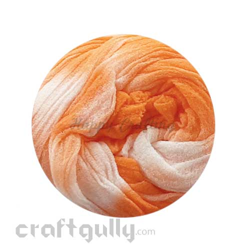 Stocking Cloth - Shaded - White & Pastel Orange #2