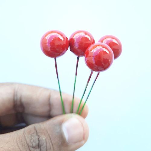 Artificial Berries 14mm - Red - 10 Berries