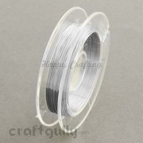 Craft Wire - Copper 0.3mm Silver - 9 meters
