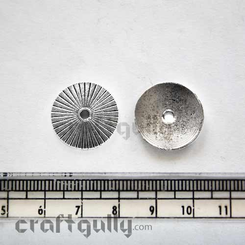 Metal Beads - 20mm - Disc - Pack of 6