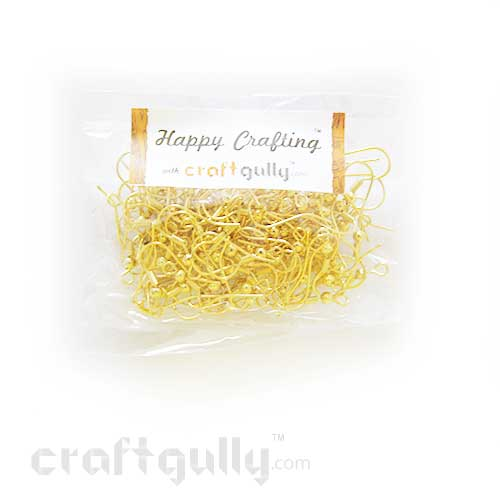 Earring - Hooks - Golden Finish - 50 Pairs