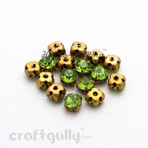Rhinestone 5mm - Prong Setting - Light Green - Pack of 25