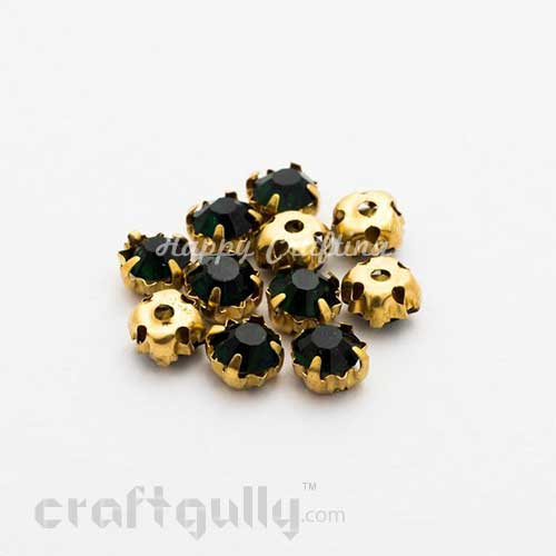 Rhinestone 5mm - Prong Setting - Midnight Blue - Pack of 25