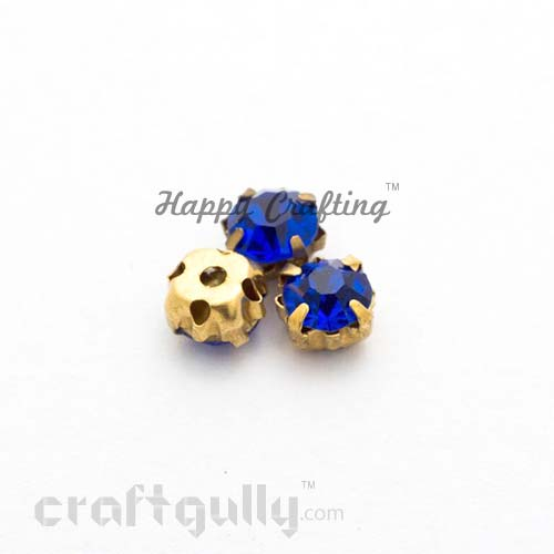 Rhinestone 5mm - Prong Setting - Royal Blue - Pack of 25