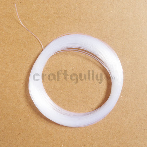 Elastic Wire 1.0mm - Flat - Transparent - 10m