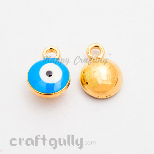 Charms 8mm - Evil Eye Blue - Pack of 2