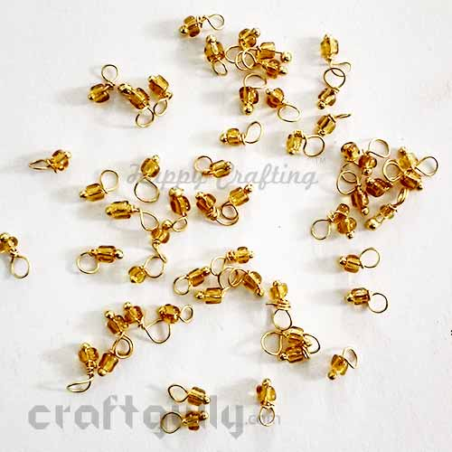 Loreals 2mm - Glass - Golden - 5gms