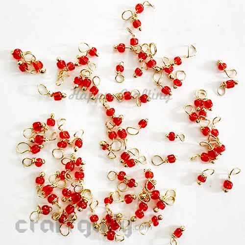 Loreals 2mm - Glass - Vermilion Red - 5gms