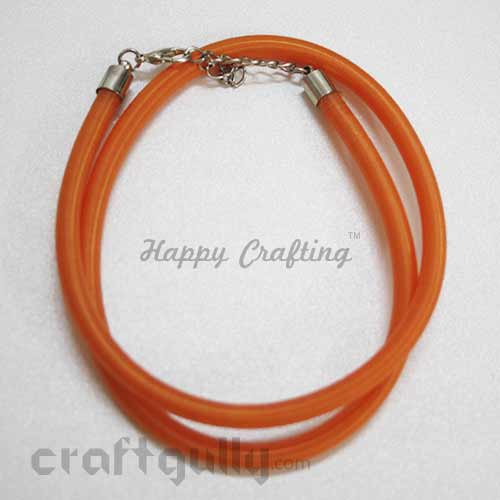 Necklace Cords - Silk Thread - Orange - 18 inches