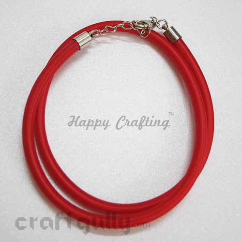 Necklace Cords - Silk Thread - Red - 18 inches