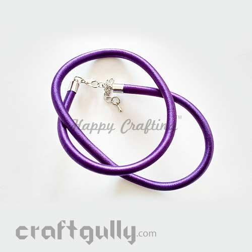 Necklace Cords - Silk Thread - Purple - 18 inches