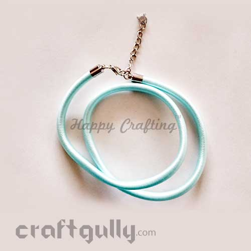 Necklace Cords - Silk Thread - Light Blue - 18 inches