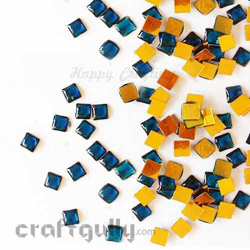 Kundan Stones 5mm - Square - Royal Blue - 10gms