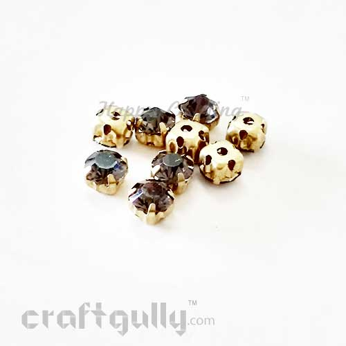 Rhinestone 5mm - Prong Setting - Black Transparent - Pack of 25