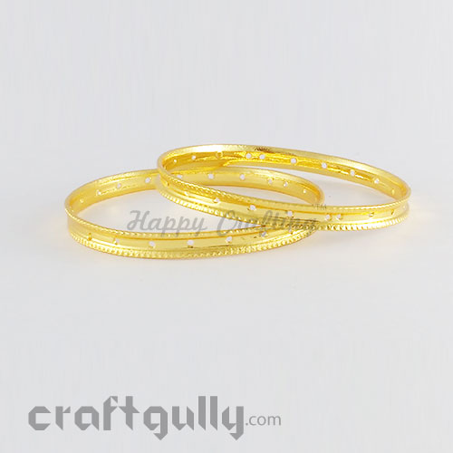 Bangles Metal 2.4 - 5mm - Golden - Pack of 2