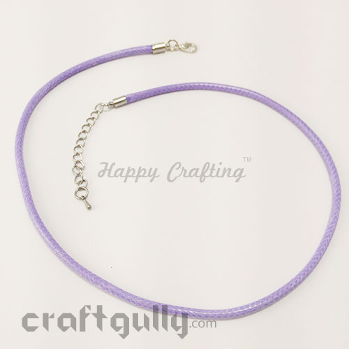 Necklace Cords 3mm - Faux Leather - Snake Braid - Lilac