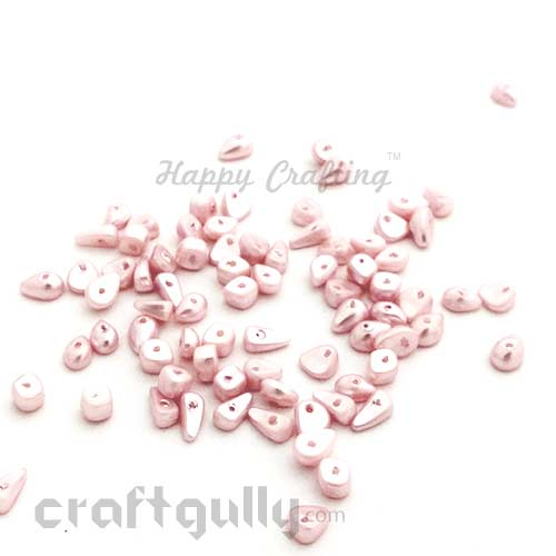 Acrylic Beads 4mm - Assorted Shapes - Baby Pink - 10gms