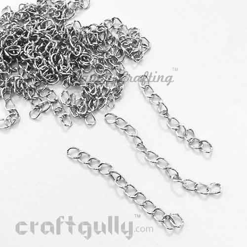 Extender Chain 5.5mm - Silver Finish - 45mm - Pack of 10
